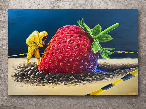 Strawberry Crash-landing (original canvas)