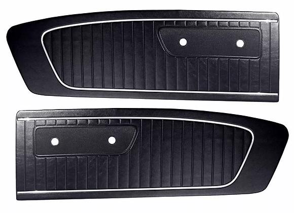 Tapas De Puertas Mustang 65 Paneles Puertas 1965 Par Negras