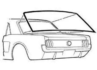 Hule Empaque Medallon Vidrio Trasero Mustang 65 66 67 68