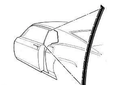 Par Hule Empaque Aleta Trasera Vidrio Mustang 69 70 Fastback