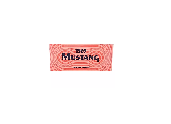 Manual De Propietario Para Mustang 69 1969