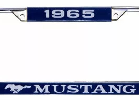 Marco De Porta Placa Ford Mustang 65