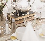 Stacked Books Wedding Centre Piece