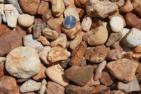 """1 1/2"""" Brown River Rock"""