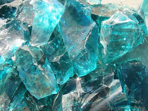 Turquoise Glass Chunks