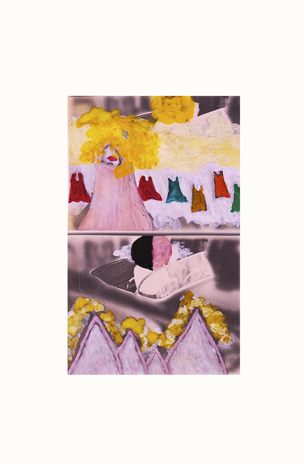 "Serie ""Sweet Sea"" acuarelas y acrílico 6,5 x 9,5 cm"