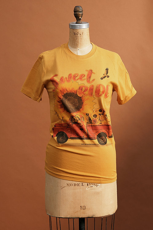 Sweet Ride Tee on Mustard