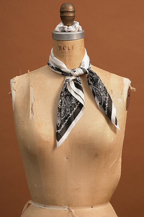 Black And Cream Scarf