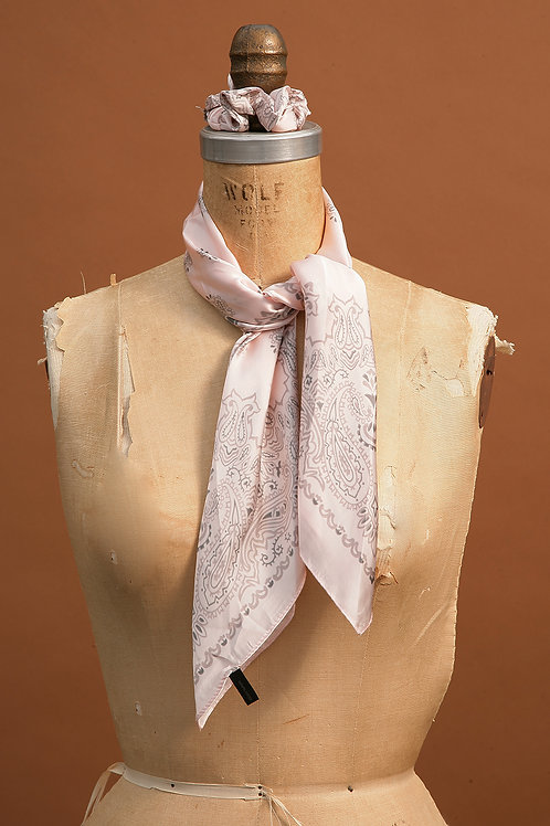 Soft Pink, Grey and Black Scarf