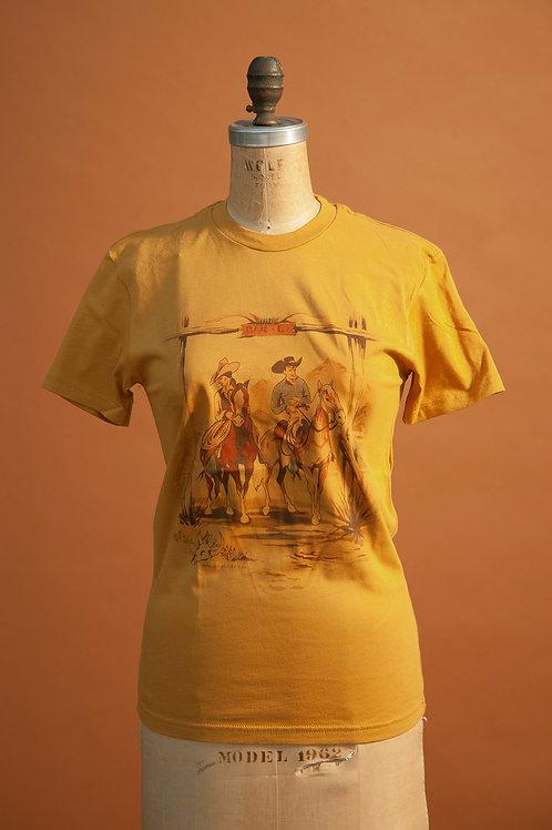 Riders Tee on Mustard
