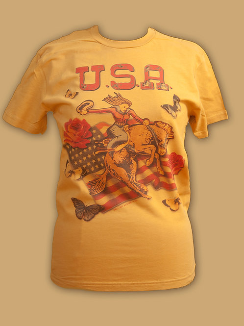 USA Flag on Mustard