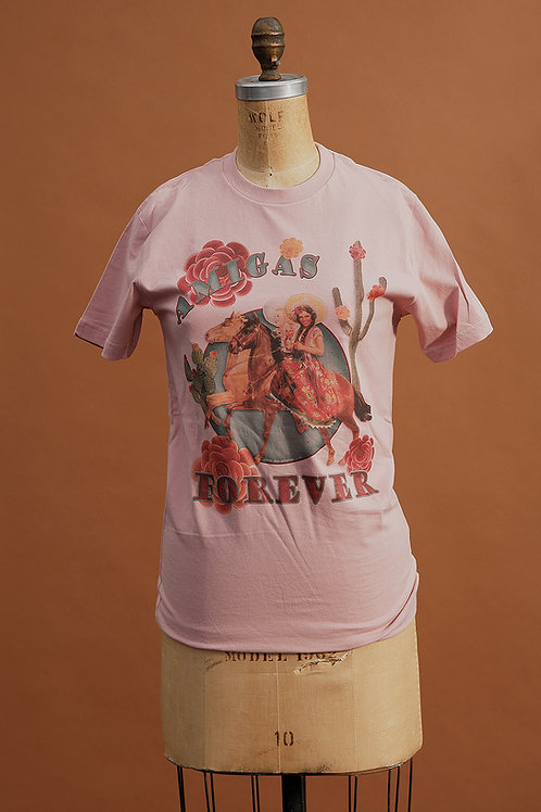 Amigas Forever Tee on Rose