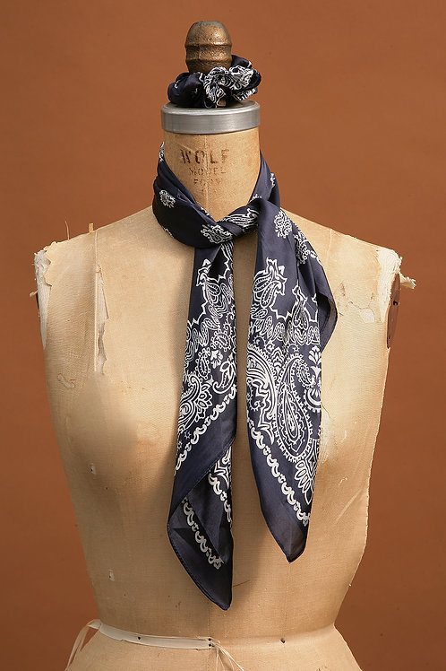 Navy and Light Grey Scarf