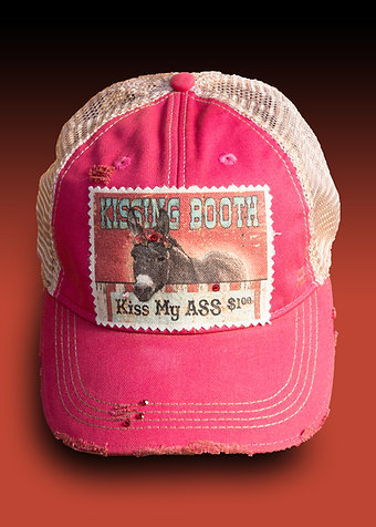Kissing Booth on Washed Out Red Hat