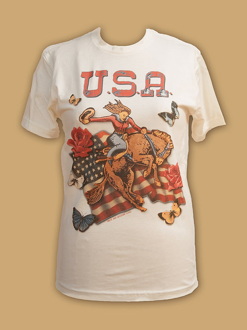 USA Flag on Ivory