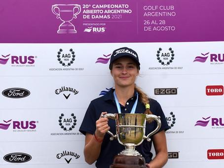 María Cabanillas ganó el Campeonato Abierto de Damas