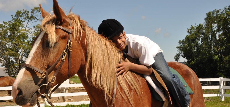 CTS boy on horse