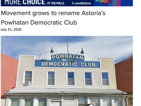 Movement grows to rename Astoria's Powhatan Democratic Club