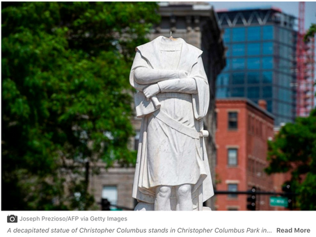 ABC NEWS~ Christopher Columbus statue debate rises as controversial statues fall across the country