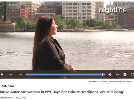 ABC NEWS~ Native American woman in NYC says her culture, traditions 'are still living'