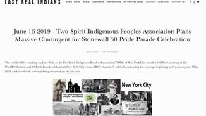 LAST REAL INDIANS~ Two Spirit Indigenous Peoples Association Plans Massive Contingent