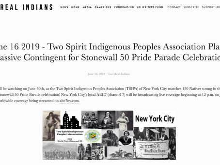 LAST REAL INDIANS~ Two Spirit Indigenous Peoples Association Plans Massive Contingent