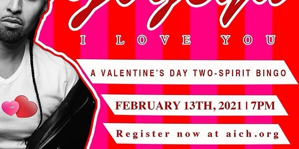 Two-Spirit/IndigiQueer Valentines Virtual Bingo