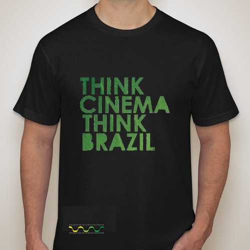 "Men Think Cinema,Think Brazil"" t-shirt color Black"