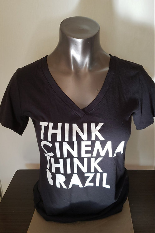 "Women ""Think Cinema, Think Brazil"" t-shirt color Black"