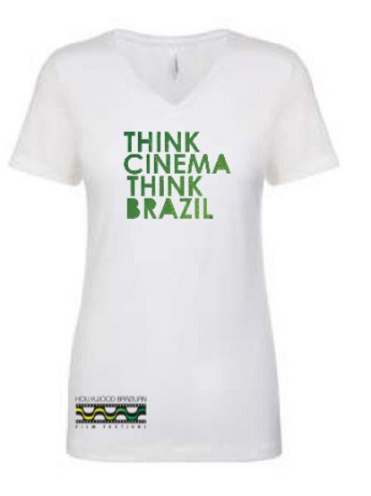 "Women ""Think Cinema, Think Brazil"" t-shirt color White"