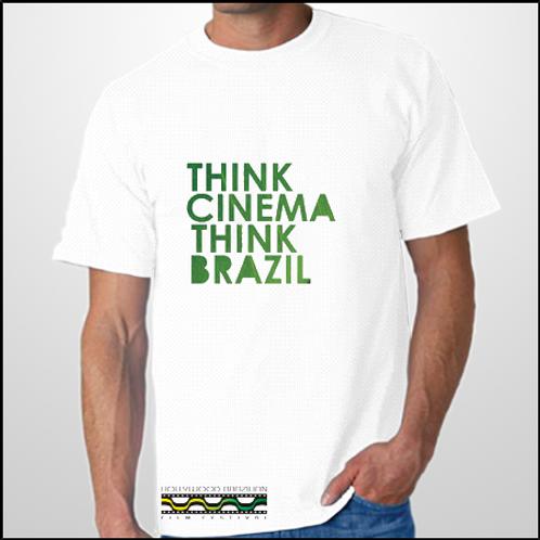 "Men ""Think Cinema, Think Brazil"" t-shirt color White"
