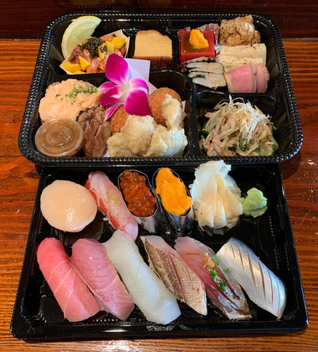 Assorted delicacy plate & sushi omakase