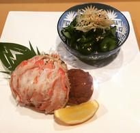 Special snow crab and cucumber sunomono salad