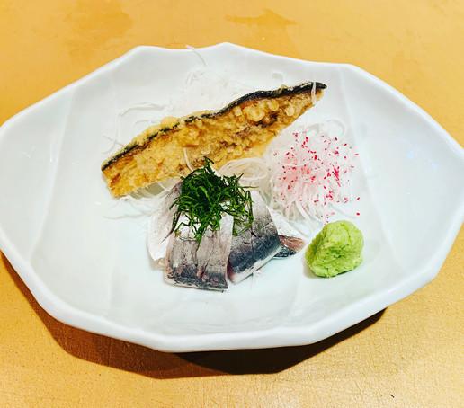 Spanish mackerel sashimi