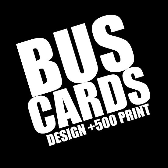 BUSINESS CARD  DESIGN + 500