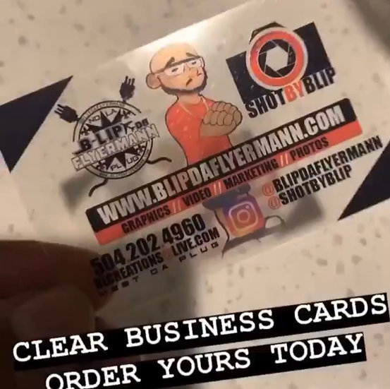 CLEAR BUS CARDS  + 1K PRINT