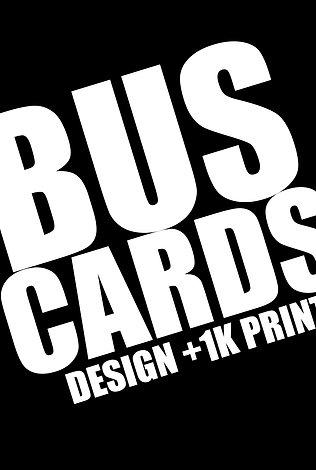 BUSINESS CARD  DESIGN + 1K PRINT