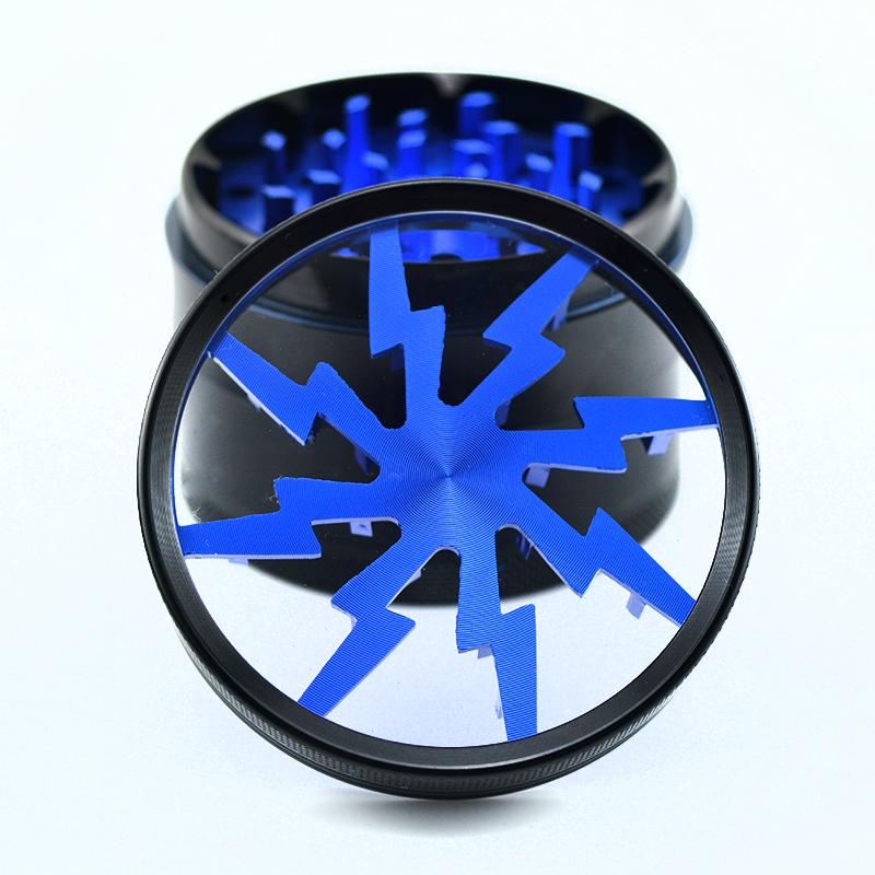 blue 2.5'' aluminum lightning grinder