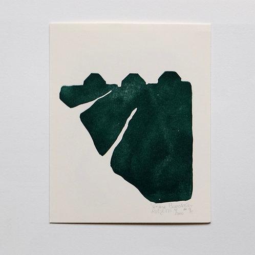 lino print - Friese boerderijen