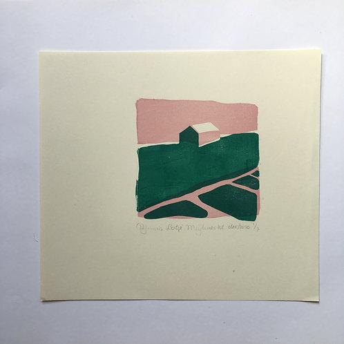 lino print - Dijkhuis