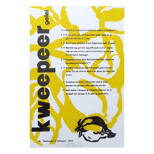 lino & letterdruk 'kweepeer gelei'