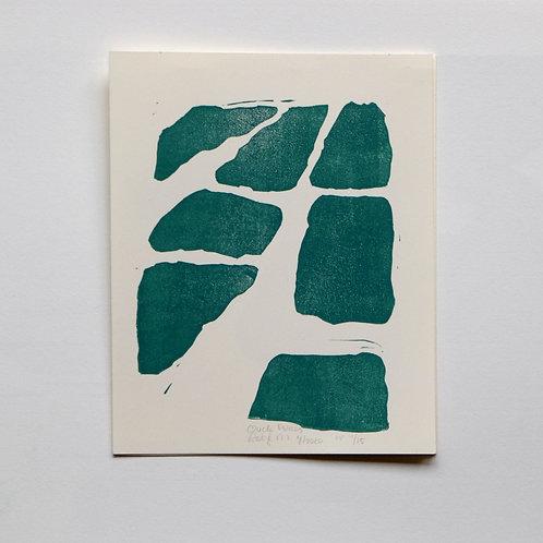 lino print - oude polders
