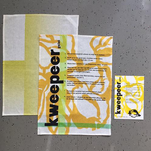 linnen theedoek - Kweepeer