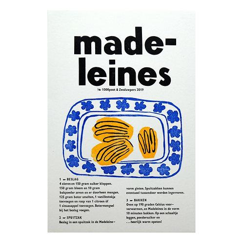 lino & letterdruk 'madelaines'