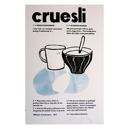 lino & letterdruk 'cruesli'