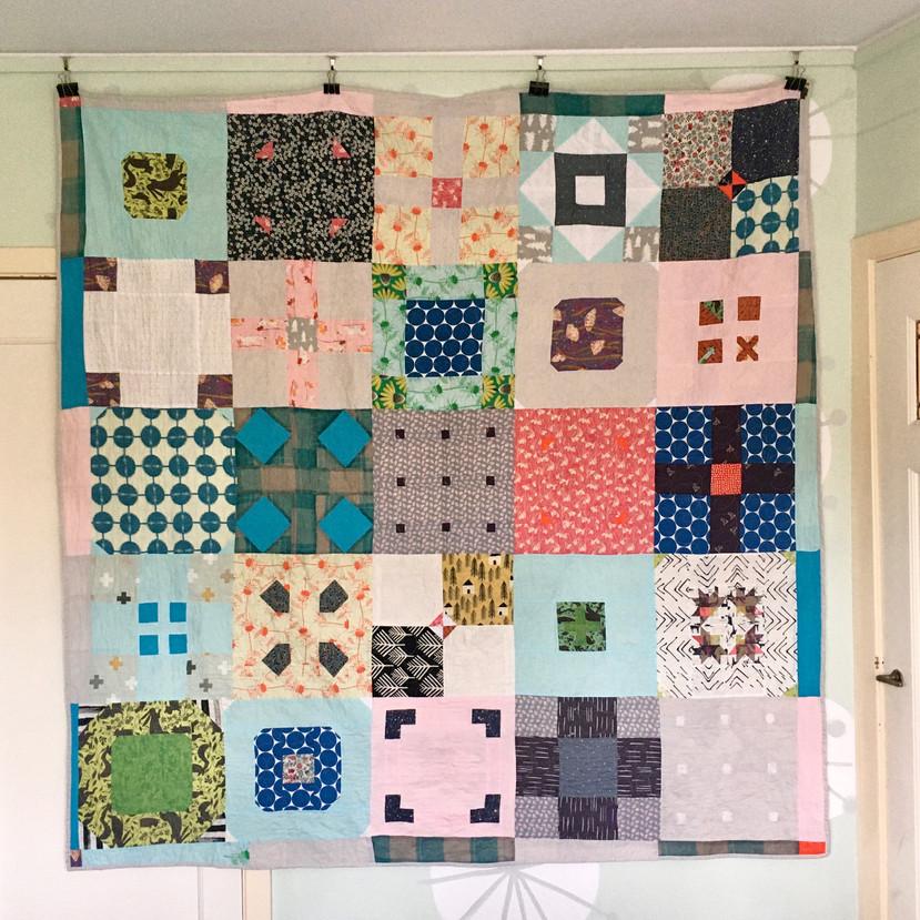 Tiles quilt (back)