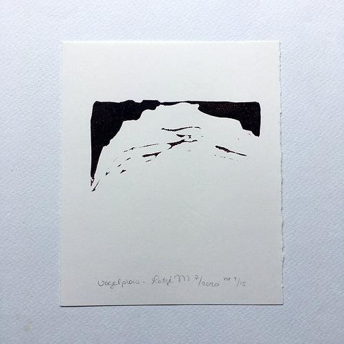 lino print - Vogelplas
