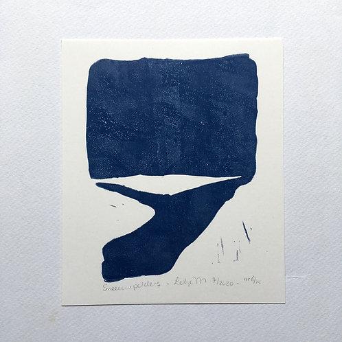 lino print - Sneeuwpolders