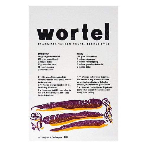 lino & letterdruk 'worteltaart'