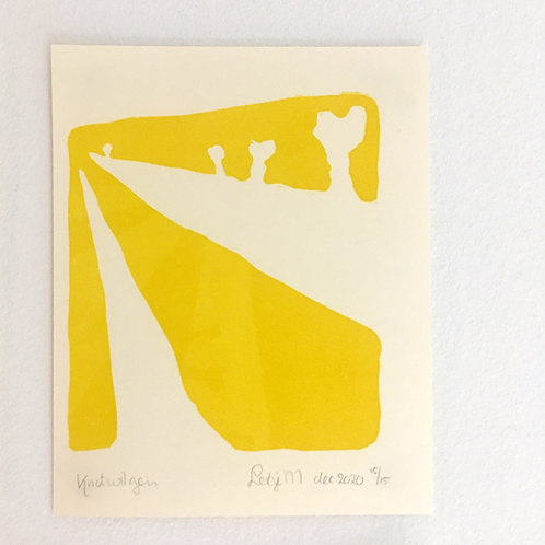 lino print - Knotwilgen
